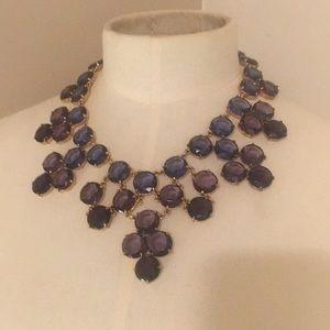 kate spade purple bib necklace